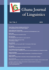 Ghana Journal of Linguistics 7(2)
